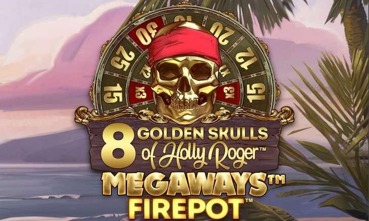 Igralni avtomat 8 Golden Skulls of Holly Roger Megaways
