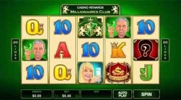 Zastonj vrtljaji igralni avtomat Millionaires Club